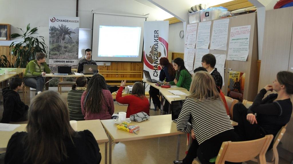 Jäsenkokous Changemaker-viikonloppussa Kuopiossa huhtikuussa 2013