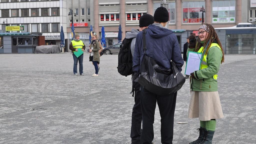 Changemakerin Kaapparit kuriin! -kampanjan avaustapahtuma Kuopiossa huhtikuussa 2013
