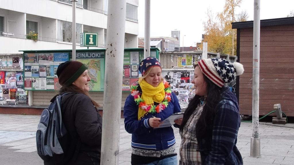 Veroparatiisimatkat-kampanjointia Seinäjoella