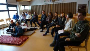 Vapaaehtoisia Changemaker-viikonlopussa Sukevalla
