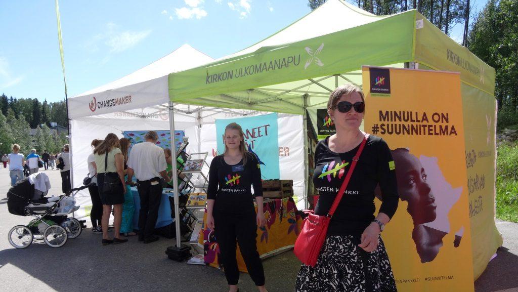 Naisten Pankki ja Changemaker olivat mukana Vantaan herättäjäjuhlilla Myyrmäessä.