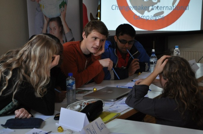 Delegates at the International Changemaker Meeting in Finland in 2012