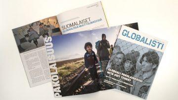 Pakolaisuusteemaisia artikkeleita Globalistin numerossa 1/2017