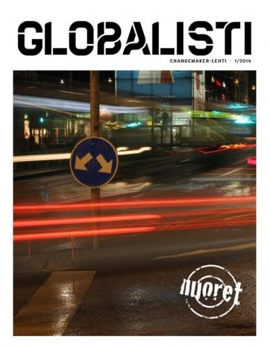 Globalisti-lehden numeron 1/2014 kansikuva.