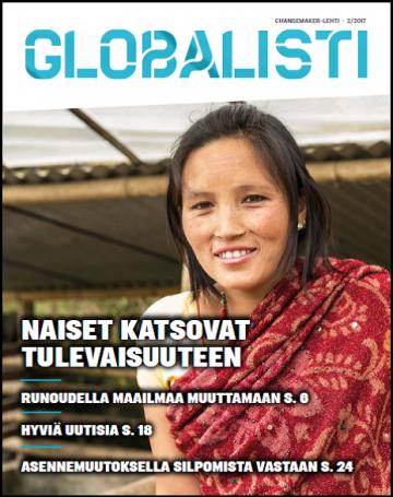 Globalistin kansikuvassa nuori nainen