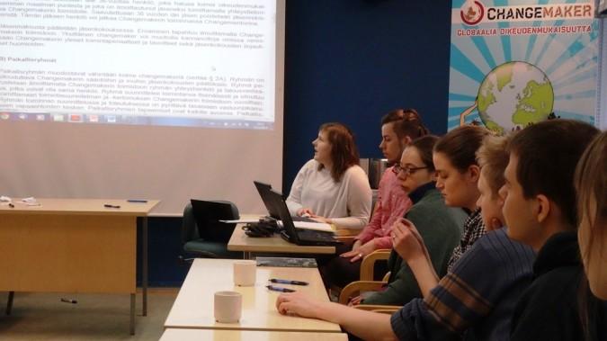 Changemakerin jäsenkokous 13.4.2014 Oulussa.