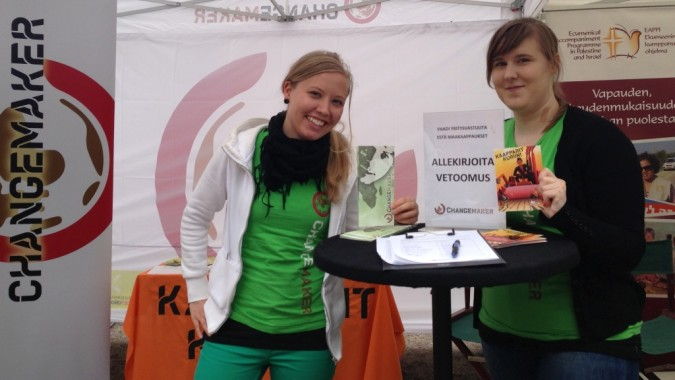 Marika ja Elina esittelevät kampanjaa