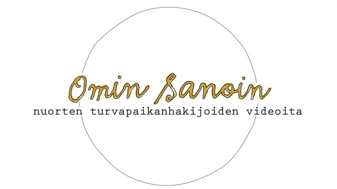 Omin sanoin -logo