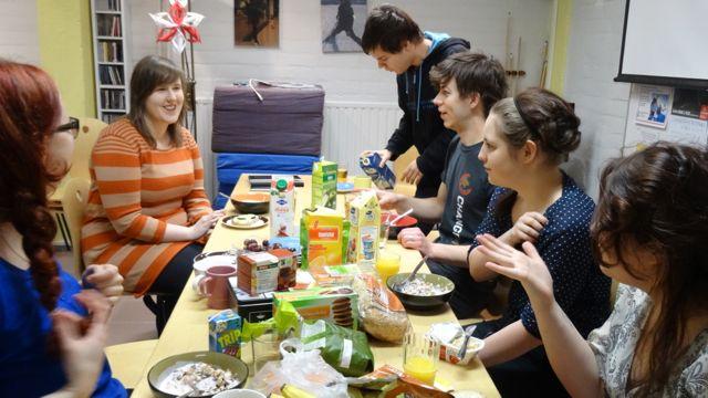 Aamiaisella paikallisryhmäpäivässä 15.2.2014 Iisalmessa
