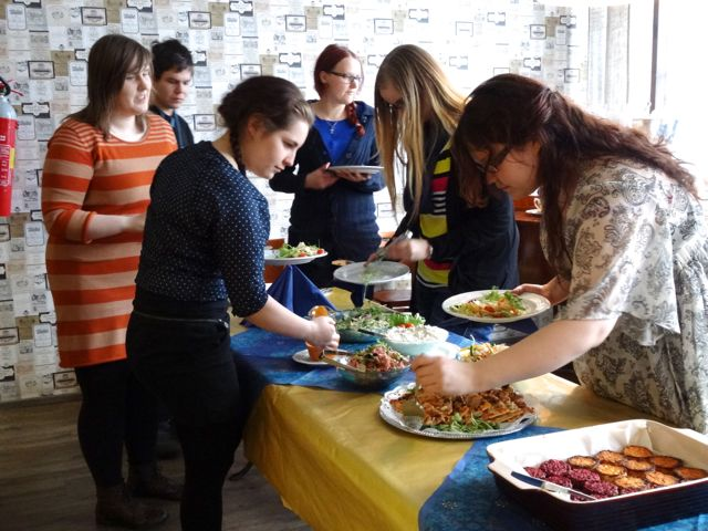 Paikallisryhmäpäivän lounasta nautittiin ravintola Pikku-Iitassa.