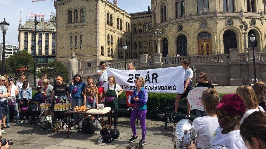 Norjan Changemakerin kampanjatempaus Oslossa