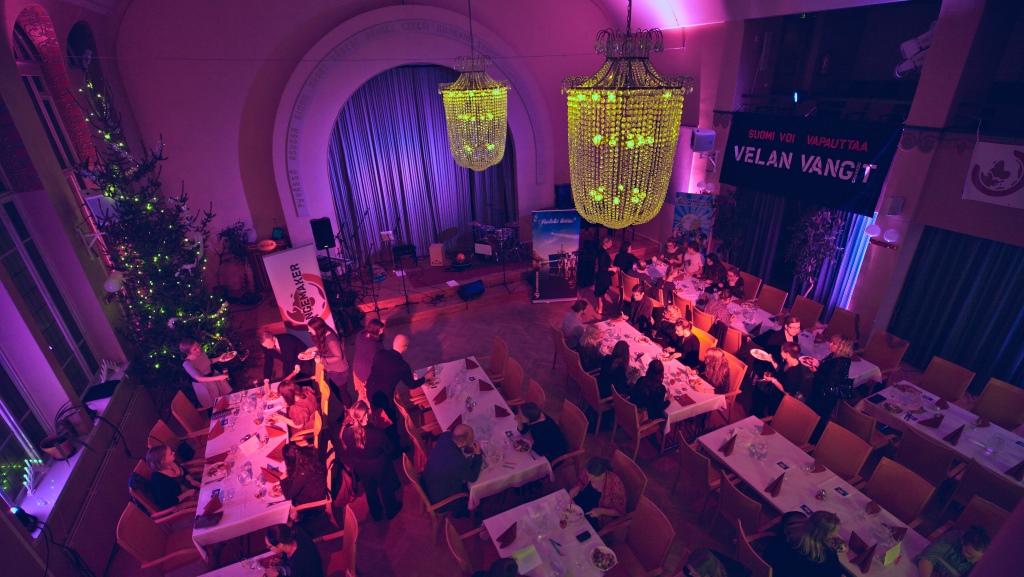 Illan viimeinen etappi oli iltajuhla Hotel Arthurissa.