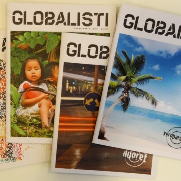 Globalisti-lehtien kansikuvia