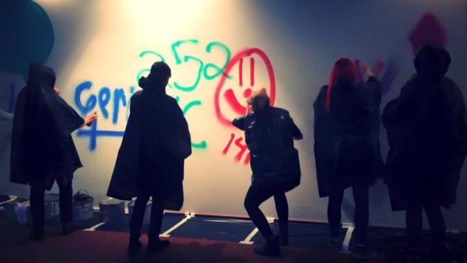 Graffitien tekoa Globsolissa