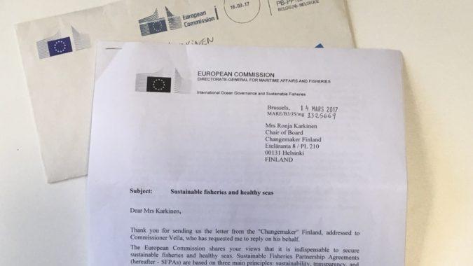 EU-komission vastauskirje