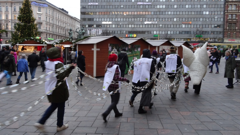 Rauhankulkue Helsingin keskustassa