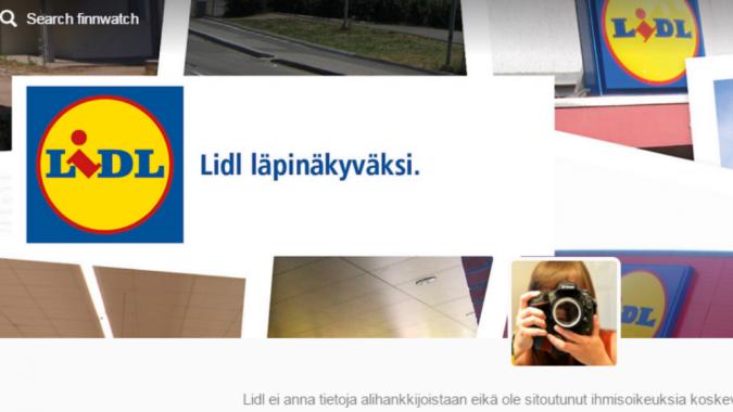 Lidl-kampanjan nettisivukuva