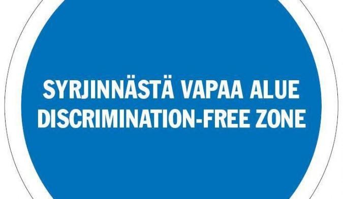 Syrjinnästä vapaa alue -logo