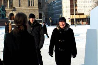 Presidentti Tarja Halonen vieraili Changemakerin Lupauskampanjan telttaleirissä