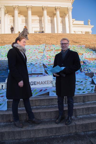 Ronja Karkinen ja Kimmo Tiilikainen