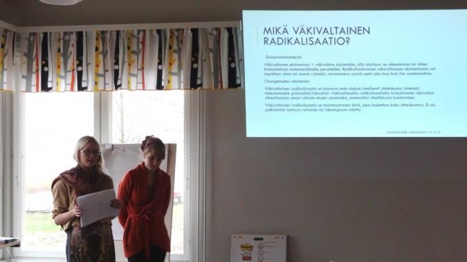 Syksyn 2014 Changemaker-viikonlopussa kouluttauduttiin radikalisaatiosta ja sen ehkäisemistä.