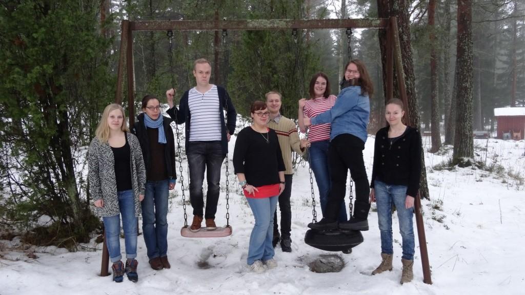 Tiimiläiset Jaana, Laura, Patrick, Sini, Jaro, Ronja, Anne ja Noora.