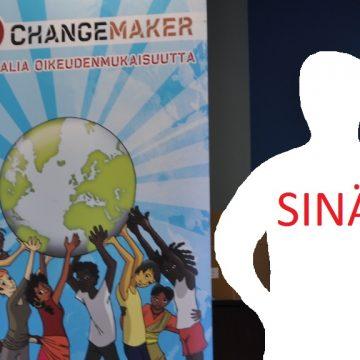 tuntematon hahmo. Kenestä Changemakerin uusi työntekijä?