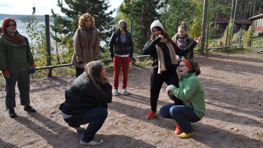 Ulkoleikkejä Changemaker-viikonlopussa Sastamalassa syksyllä 2013