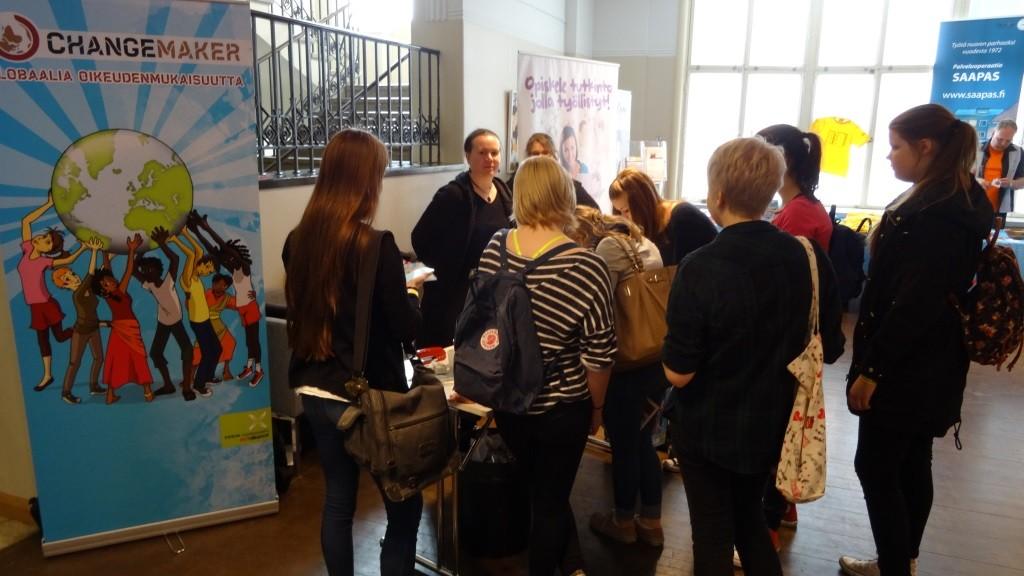 Changemaker herätti paljon kiinnostusta osallistujissa Yhden hinnalla -tapahtumassa.